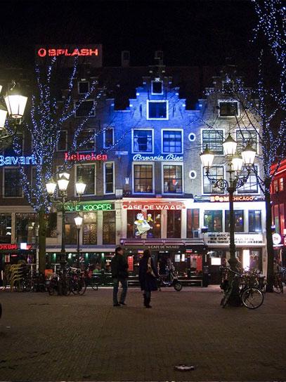 Leidseplein by night